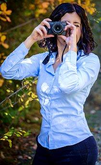 Photographer, Woman, Camera