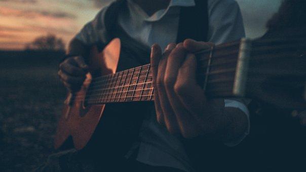 Guitar, Sunset, Player, Colors, Tool, Guitars