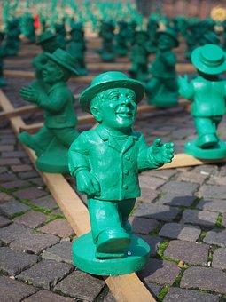Little Green Man, Run, Go, Friendly, Green Men, Art
