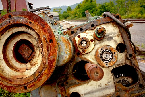 Rusted Motor, Junkyard, Motor, Rust, Old, Metal