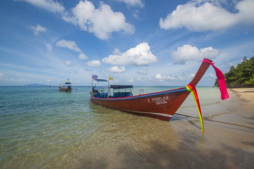 Boat, Thailand, Long, Tail, Island, Beach, Water, Sea