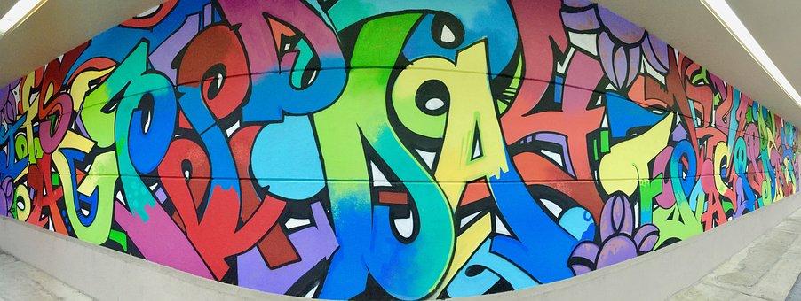 Graffiti, Artistic, Paint, Street, Colorful, Wall
