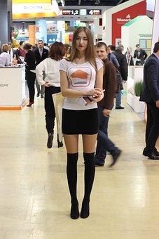 Exhibition, Girl, Model, Tall Girl