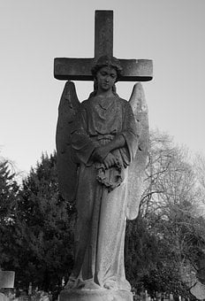 Angel, Grave, Cemetery, Religion, Death, Wings