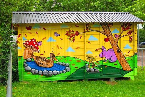 Malmö, Rosengård, Art, Graffiti, Street Culture, Facade