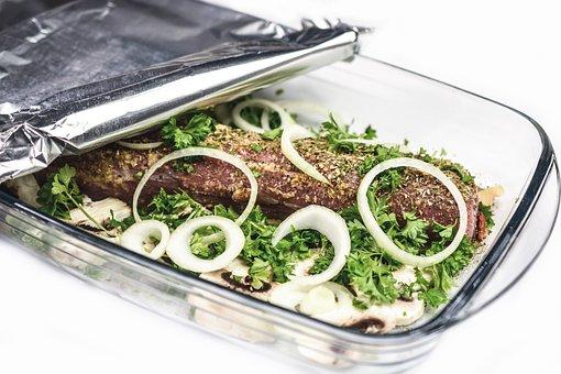 Roast, Dinner, Meat, Prepare, Onion, Rings, Food, Dish