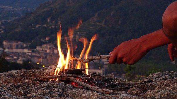 Fire, Wood Fire, Wood, Mountain, Flames, Heat