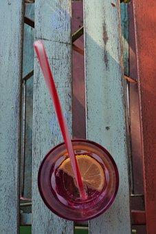 Straw, Glass, Lemon, Soft Drink, Food-drink, Mood