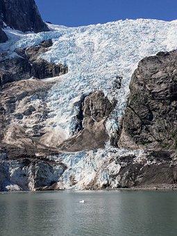 Kenai Glacier, Ice, Snow, Mountain, Water, Pacific