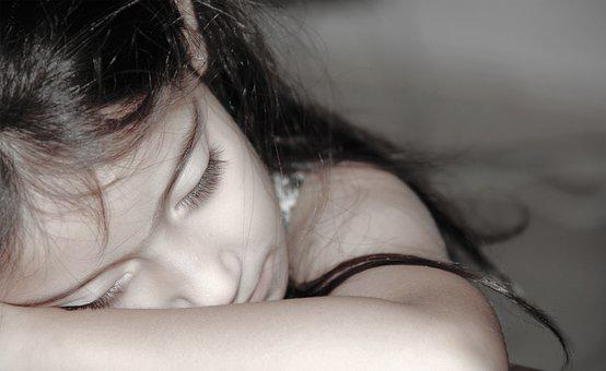 Girl, Sleeping, Lying, Bedroom, Night, Female, Cute