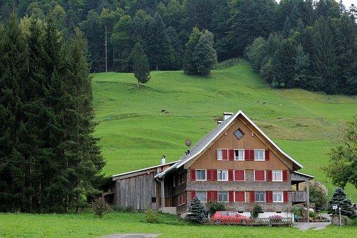 Hut, Alpine Hut, Landscape, Green, Mountain Hut, Nature