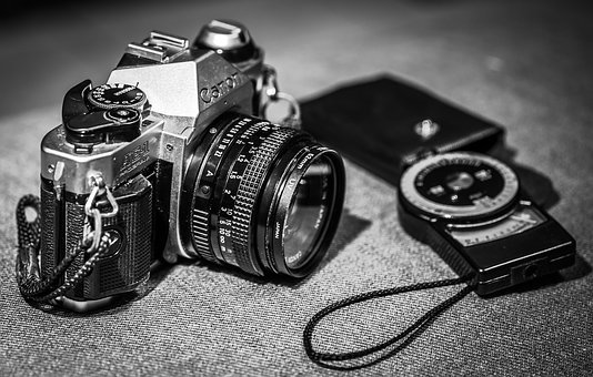Black And White, Camera, Film, Old, Old Camera