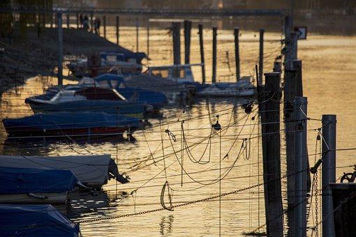 Port, Boats, Pier, Fishing Boats, Lake Constance