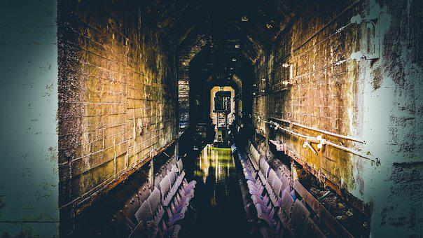 Mining, Industry, Abandoned, Processing, Tunnel