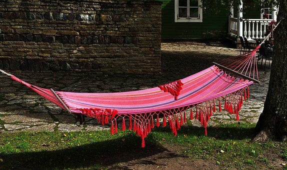Hammock, Rest, Resting Place, Rock, Cozy, Relaxation