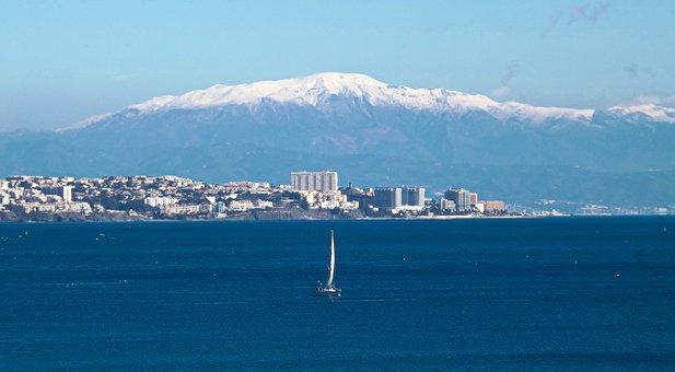 Mount, Malaga, Sea, Boat, Snowy, Spain, Tourism