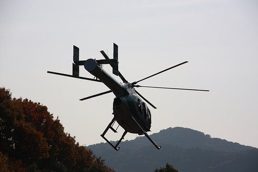 Helicopter, Mountain, Sky