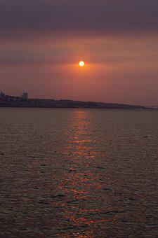 Sunset, Mood, Lake, Sea, Landscape, Evening Mood