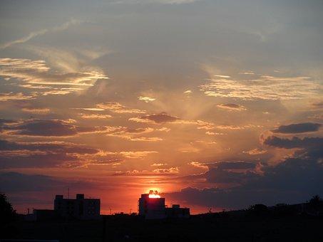 Twilight, End Of Afternoon, Sunset, Landscape