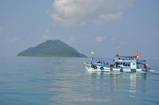 Ship, Thailand, Coast, Island, Vacation, Resort, Summer