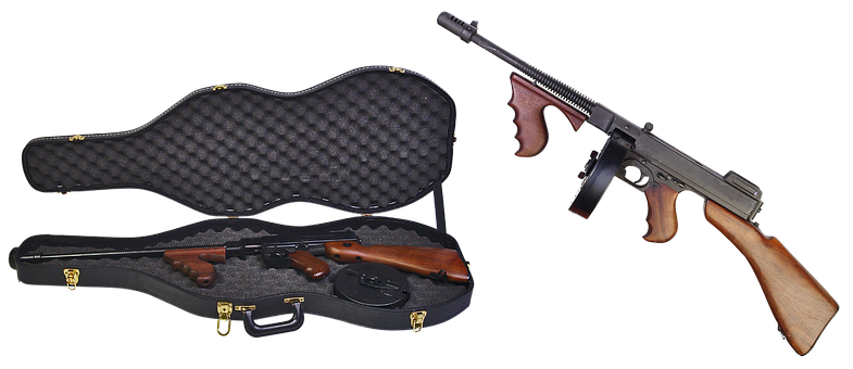 Thompson Submachine Gun, Case, Firearms, Automatic