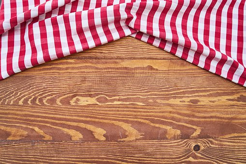 Table, Cover, Red, Detail, Kitchen, Beautiful, Food