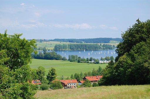 Lake, Bavaria, Water, Nature, Chiemgau, Upper Bavaria