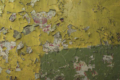 Wall, Paint, Yellow, Old, Green, House, Design, Texture