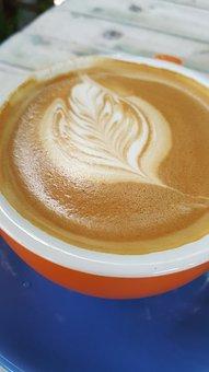 Coffee, Blue, Orange, Drink, Red, Breakfast, Table