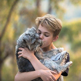 Boy, Dog, Friendship, Love, Friend, Together, Happiness