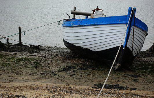 Boat, Shore, High And Dry, Moored, Fishing, Beach