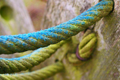 Close, Rope, Klettergerüst, Dew, Knot, Knitting