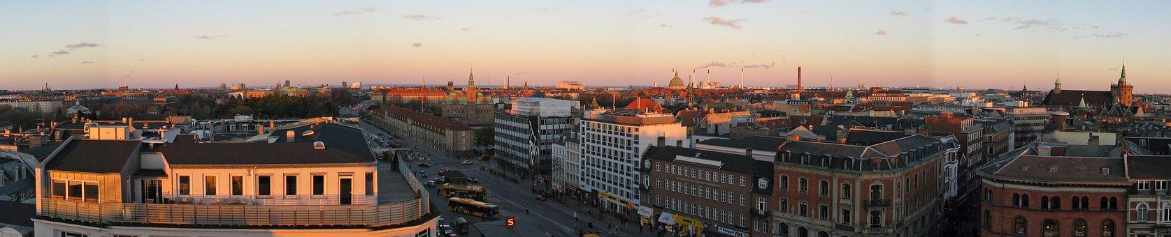 Copenhagen, Panoramic, Skyline