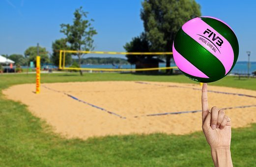 Volleyball, Play, Beach Volleyball, Ball, Sport
