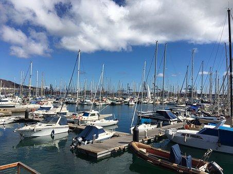 Sailboat, Port, Mooring, Spring, Boat, Sailing Boat