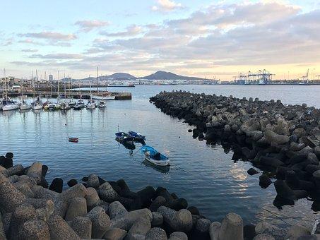 Spring, Boat, Sailboat, Port, Sea, Sailboats, Sky