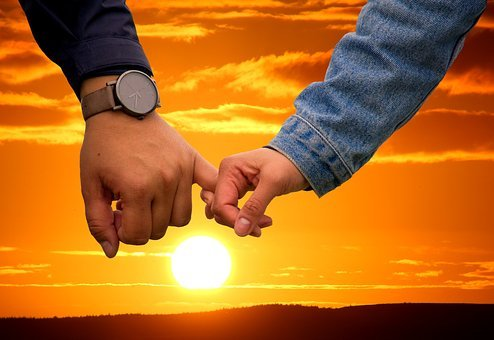 Pair, Sunset, Mood, Love, Lovers, Romance, Romantic