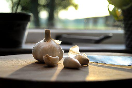 Garlic, Kitchen, Food, Fresh, Cooking, Meal, Table
