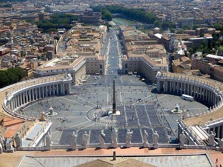 Vatican, Basilica, St Peter's Square, Rome