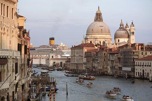 Venice, Water, Channel, Canale Grande, Boats, Venezia