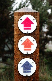 Waymark, Arrow, Way, Mark, Marker, Sign, Direction, Up