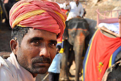 Man, Male, Portrait, A Person, Face, India, Ind, Mahout