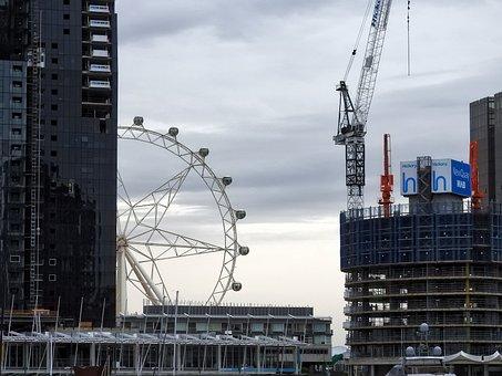 Ferris, Wheel, Crane, Building, Amusement, Fun, Ride