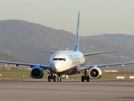 Italy, Bergamo, Plane, Aviation, Airport, Airlines