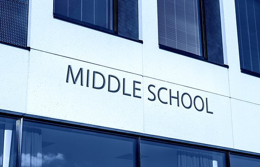 Middle School, Education, School, Study, Building