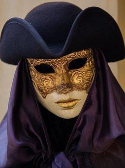 Venice, Mask, Hat, Carnival, Costume, Dress Up, Figure