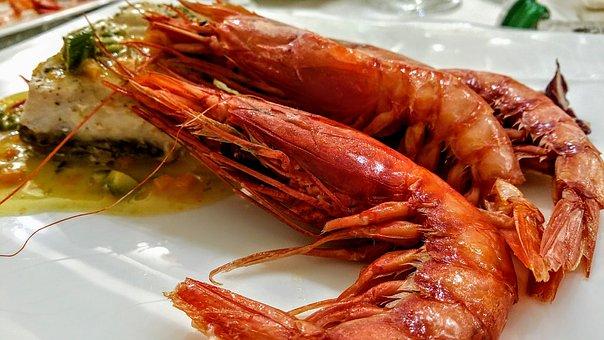 Shrimp, Fish, Appetizer, Sushi, First Plate, Food