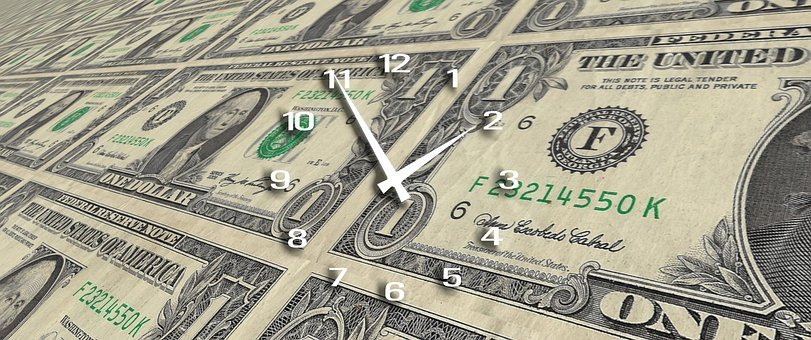 Clock, Time, Time Is Money, Forex, Dollar, Finance