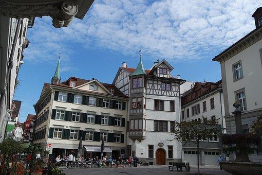 St Gallen, Old Town, Grüninger Place, Historic Home