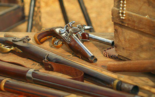Weapons, Gun, Trunk, Pirates